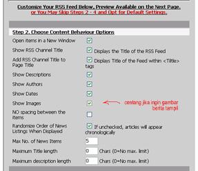 Step 2 display RSSFeed