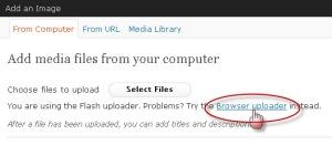 pilih browser uploader