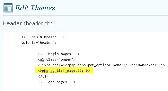 edit header.php
