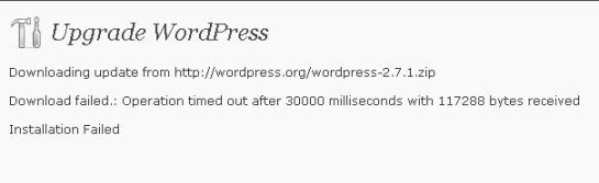 problem upgrade wordpress otomatis