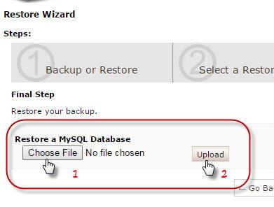 pilih database restore